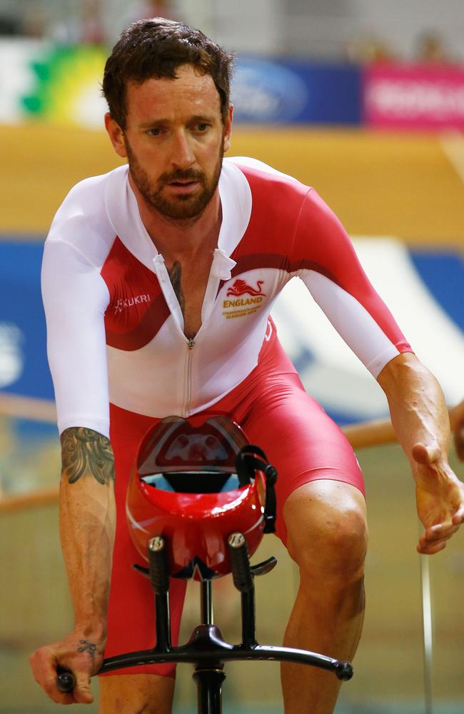 Bradley Wiggins after being beaten by Australia in the team pursuit.