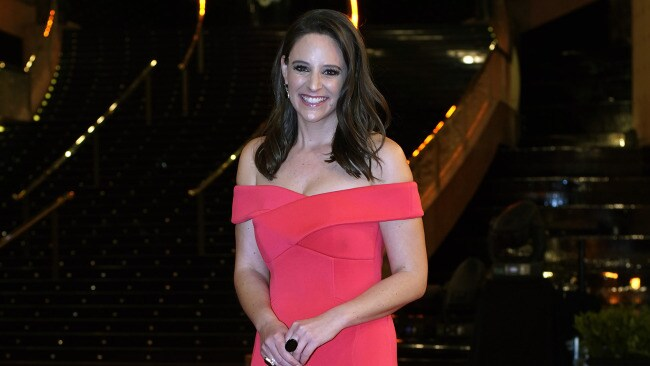 Neroli Meadows poses at the Brownlow medal ceremony. Image: AAP.