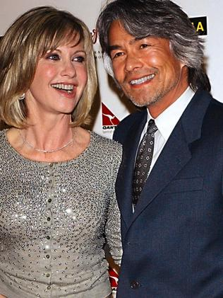 Olivia Newton John and former partner Patrick McDermott. Picture: Supplied.