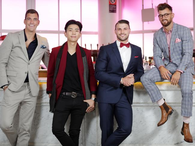 Just some of this year's top 30 finalists: Cam Cranley, Kevin Kim, Luke Cassey and Nathan McCallum. Picture: Christian Gilles