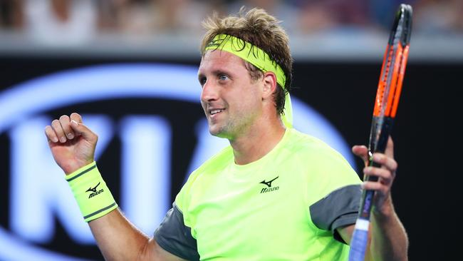 Tennys Sandgren pulled off one of the upsets of the tournament thus far.