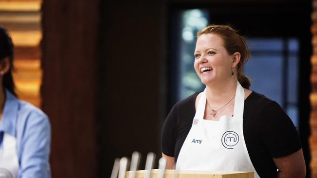 "Friendly ... Amy describes her MasterChef Australia fellow competitors as ""extremely supportive""."