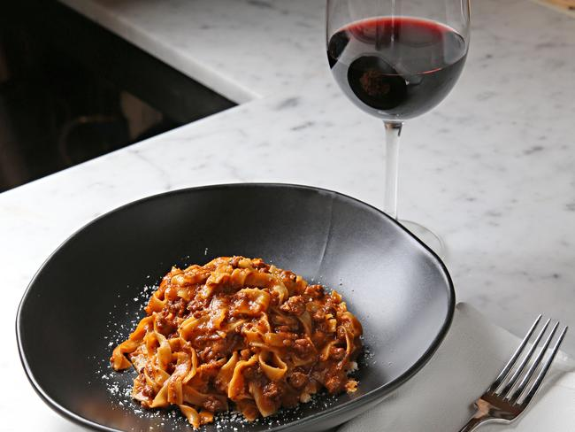 There's no need to give up the pasta and wine if you limit your portion size. Picture: Tim Carrafa