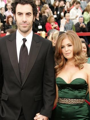 Married ... Sacha Baron Cohen and Isla Fisher. Picture: AFP
