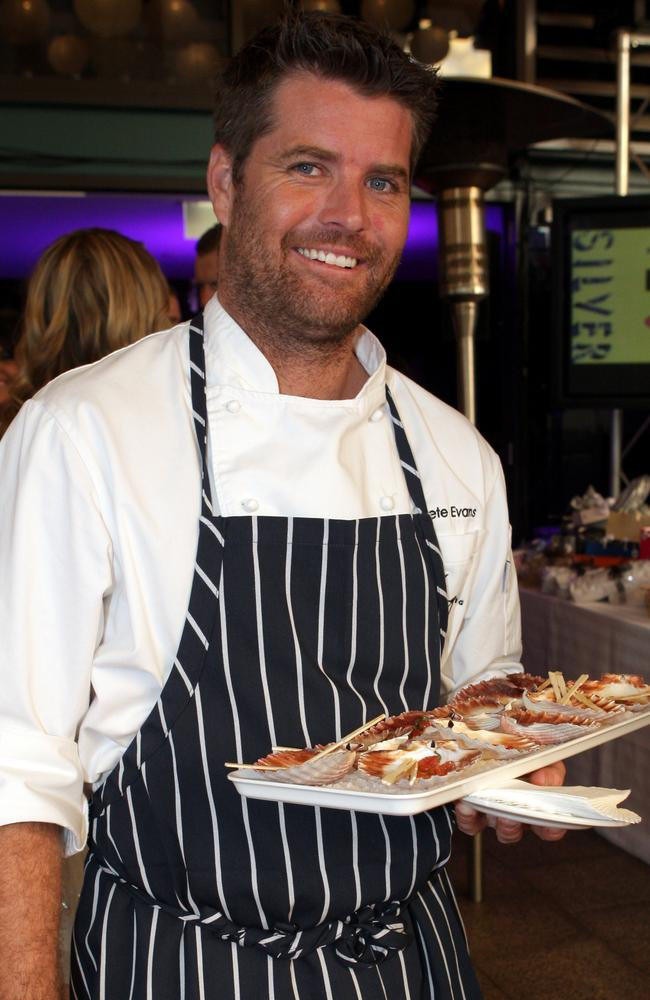 Old life ... not long ago, Pete Evans was happy to take big bucks endorsements and invest in restaurants that push the type of foods he now decries.