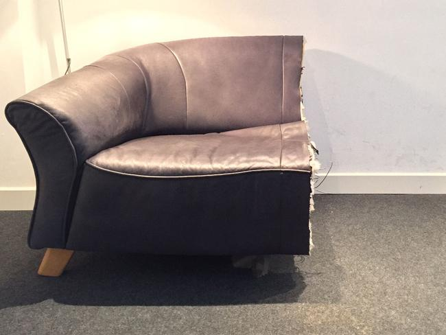 It might be hard to snuggle on this sofa... Picture: eBay