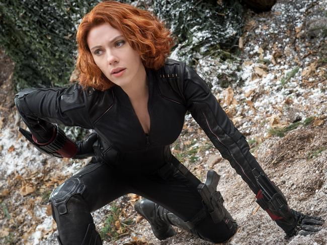 Johansson as the Black Widow/Natasha Romanoff in Marvel's  <i>Avengers: Age Of Ultron</i>.