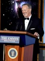Former White House Press Secretary Sean Spicer speaks onstage during the 69th Annual Primetime Emmy Awards at Microsoft Theater on September 17, 2017 in Los Angeles, California. Picture: Getty