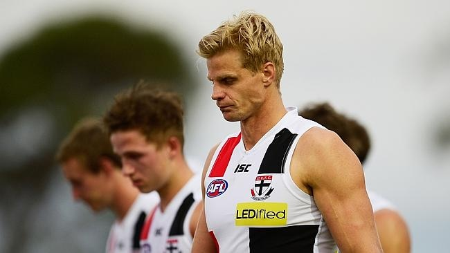 Nick Riewoldt impressed for the Saints. Picture: Brett Hemmings/Getty Images