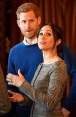 Prince Harry and Meghan Markle admire the interior of the banqueting hall during a visit to Cardiff Castle on January 18, 2018 in Cardiff, Wales. Picture: Getty