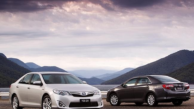 On struggle street ... The Toyota Camry Hybrid (left) Camry (right).