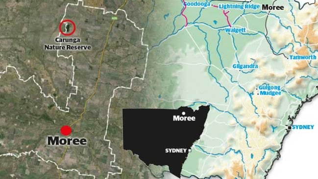 The shooting took place at Croppa Creek, 65km northeast of Moree, in northern NSW.