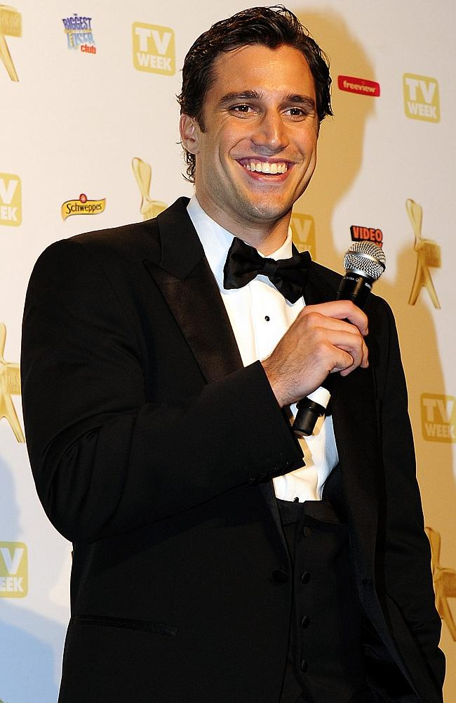 2010 Logie Awards. Logies. Winners. PJ Lane talks to the media after a Logies tribute to his late father, Don