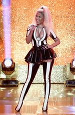 Nicki Minaj performs onstage during the 2017 MTV Video Music Awards at The Forum on August 27, 2017 in Inglewood, California. Picture: Getty
