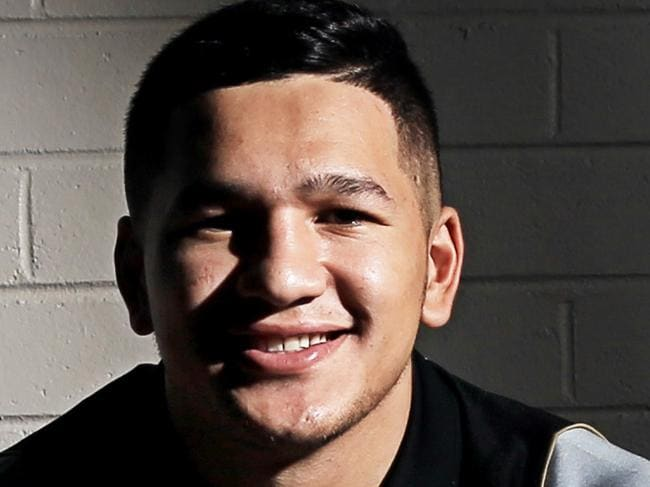 Dallin Watene-Zelezniak of the Penrith Panthers all set for the new NRL season, has just signed with the club for another year. He is pictured at Sportingbet Stadium, Penrith. pic Mark Evans