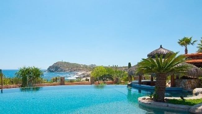 Villa Vista Ballena, Los Cabos. A resort style pool, without any other guests to splash you. Picture: HomeAway.com.au