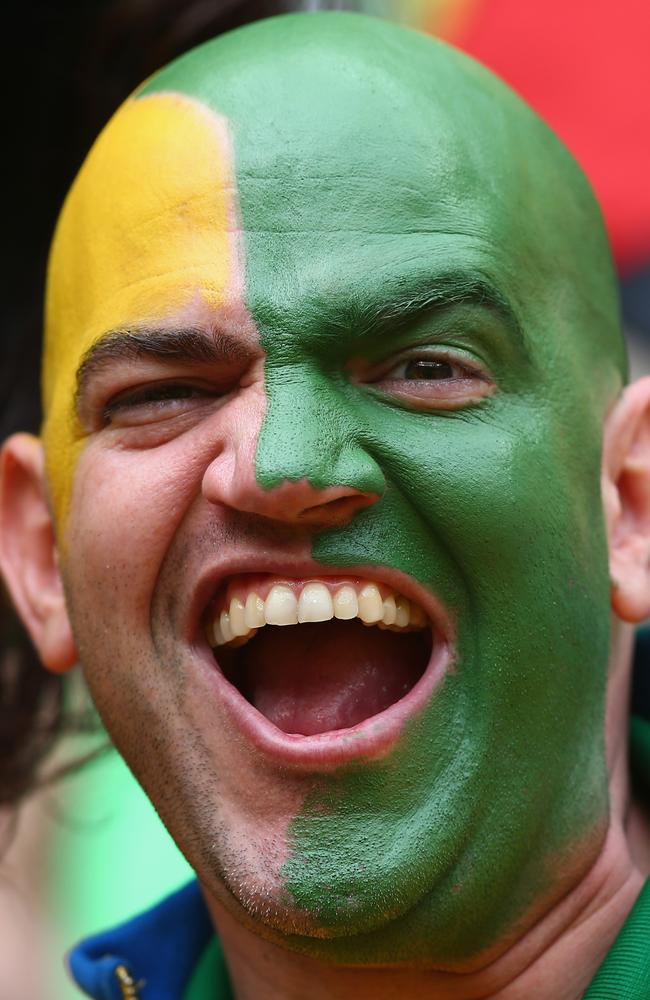 A very happy Brazil fan.