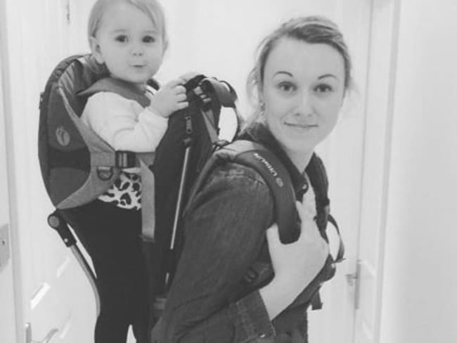 Backpackers ... Newborn Esmé was just 10 weeks old when she embarked on her trip around the world. Picture: Instagram.