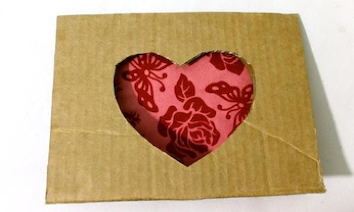 Cute cut-out heart card