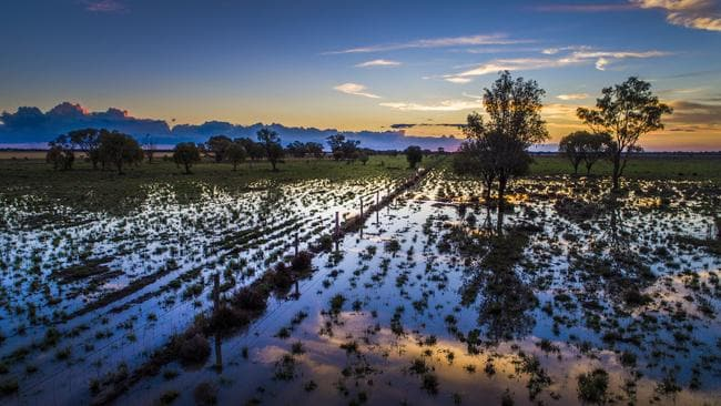 A month's worth of rain was dumped in some regions on Saturday. Picture taken by Nigel Hallett, driving from St George and Goondiwindi
