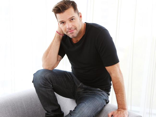 Comfortable in his skin ... The Voice coach Ricky Martin. He has signed with vitamins company Swisse to become an ambassador for the brand. Picture: Toby Zerna
