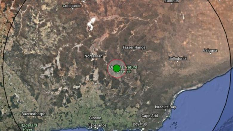 A 5.6 magnitude earthquake has been recorded in the WA Goldfields town of Norseman. Picture: Geoscience Australia