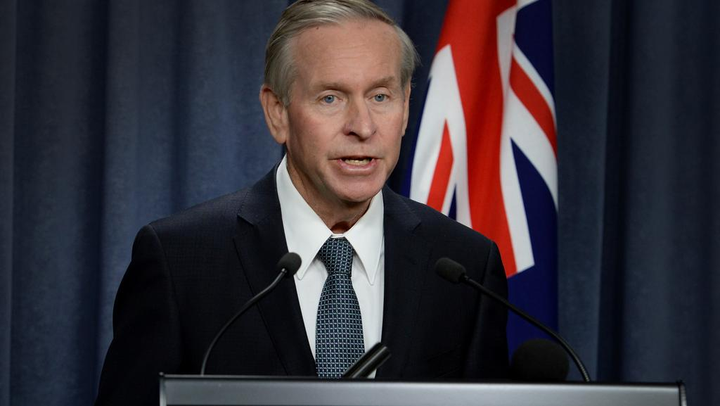 Premier Colin Barnett announces his new cabinet, promoting three new ministers. Picture: Justin Benson-Cooper