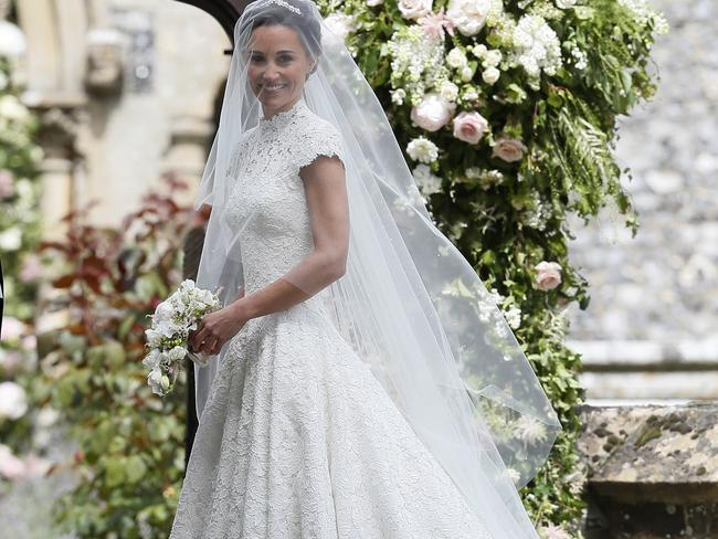 Pippa Middleton sparkled in her stunning dress. Picture: AP