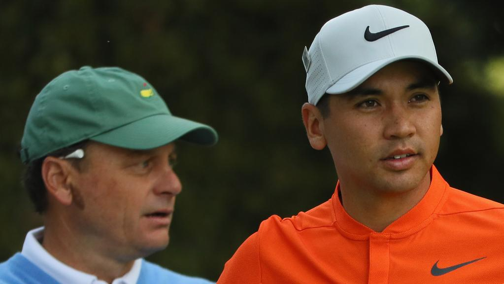Jason Day had the company of 54-year-old amateur Jeff Knoxfor his third round.