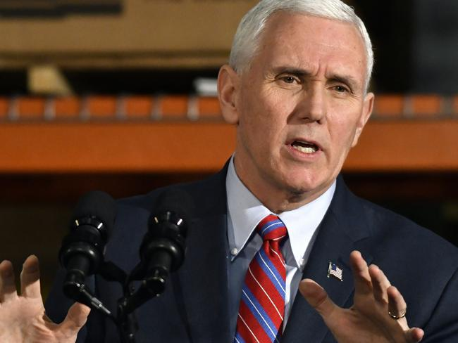 US Vice President Mike Pence will reportedly visit Australia in April. Picture: AP Photo/Timothy D. Easley