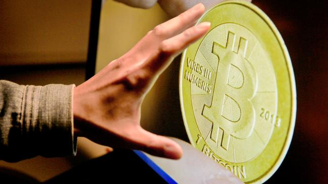Bitcoin, a digital currency that exploded this year.