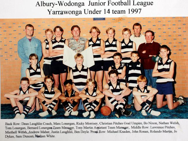 A young Tom Lonergan is the 3rd from the right (standing back) — note the Lonergans are well represented.