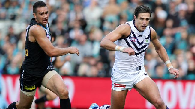 Fremantle and Port Adelaide's clash will help shape the final eight. Picture: SARAH REED.