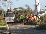 The scene of storm damage in Hines Street in O'Connor. Picture: Ross Swanborough