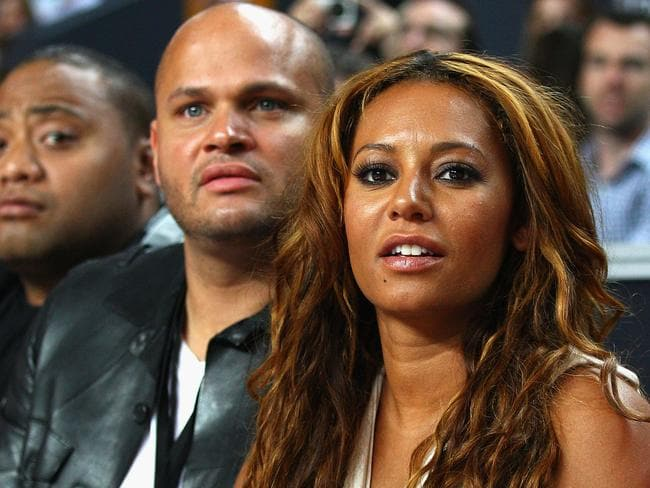 Mel B and her husband Stephen Belafonte at an NBL match in Sydney in 2011. Picture: Getty