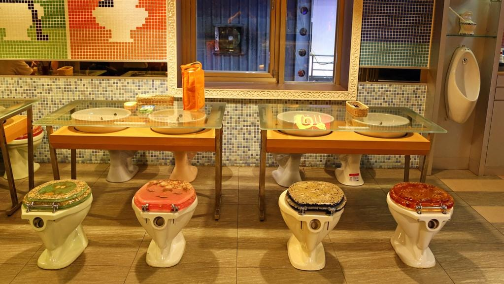'The Modern Toilet', Taiwan Restaurant chain's toilet