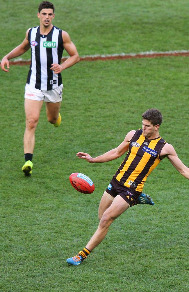 Breust kicked four goals in the win over Collingwood.
