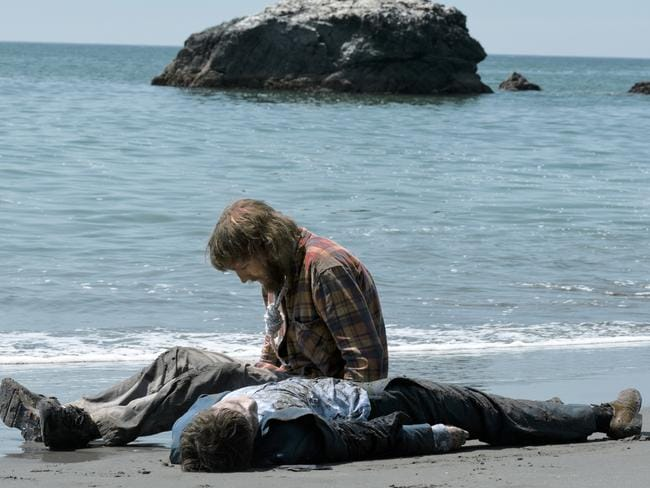 Castaways ... Paul Dano and Daniel Radcliffe in a scene from Swiss Army Man. Picture: AP