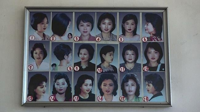 These are the female state-sanctioned haircuts you can choose in North Korea. Picture: AP