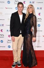 Penelope Austin and James Phillips arrive on the red carpet for the 30th Annual ARIA Awards 2016 at The Star on November 23, 2016 in Sydney, Australia. Picture: AAP
