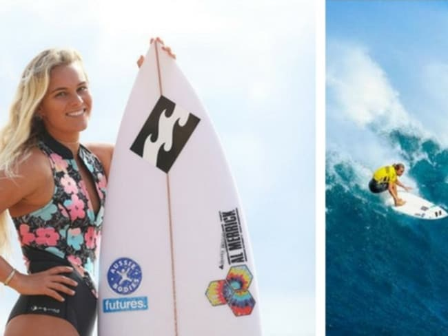 Felicity Palmateer created history by competing at Jaws last year.