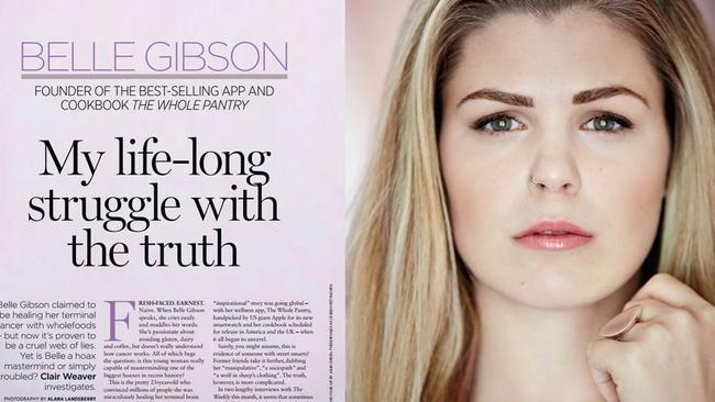 Belle Gibson's tell-all with AWW from April.