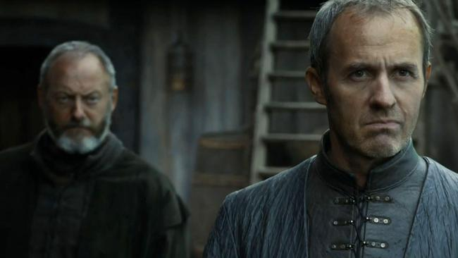 Davos (left) with Stannis.