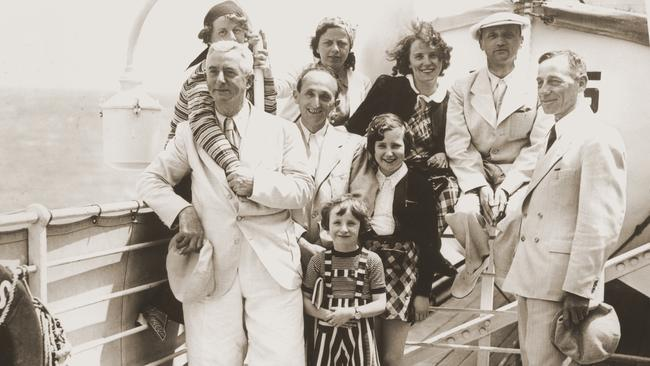Members of the Dublon family pose on the deck of the MS St Louis. When the ship returned to Europe, the family disembarked in Belgium. All of them were deported to Auschwitz. All of them were killed. Picture: United States Holocaust Memorial Museum, courtesy of Peter S Heiman