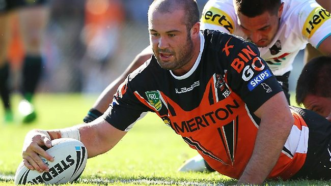 Wests Tigers prop Aaron Woods has been in impressive form.