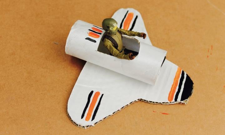 Toilet Roll Space Shuttle: How To Make Craft For Kids
