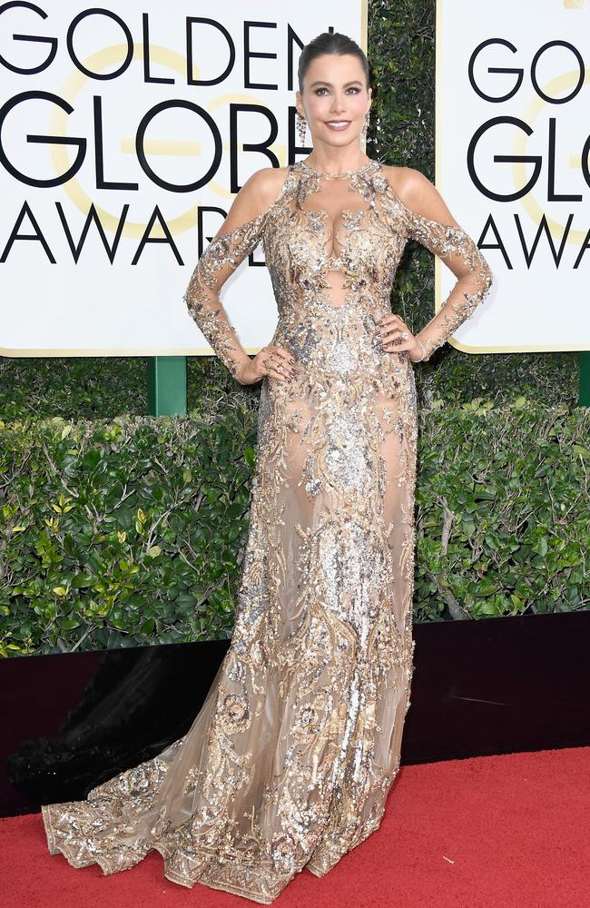 Sofia Vergara in Zuhair Murad. Picture: Frazer Harrison/Getty Images