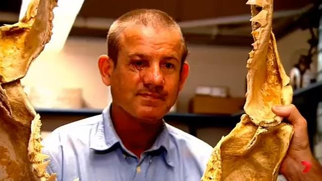 Two-time shark attack victim Greg Pickering, on Channel 7's Sunday Night. Picture: Cha...