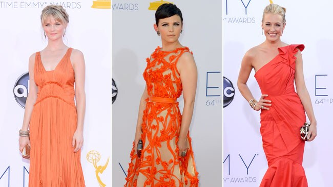 Summery stunners: Lindsay Pulsipher, Ginnifer Goodwin and Cat Deeley hit the red carpet. Picture: Getty Images