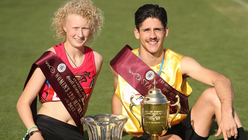 Stawell gift 2017 winners matthew rizzo liv ryan teenagers stawell gift 2017 teenagers matthew rizzo liv ryan blitz rivals in famous foot race negle Images